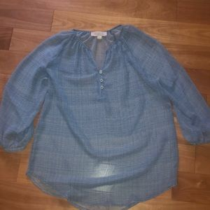 Olive&Oak Blue Blouse 3/4 sleeve